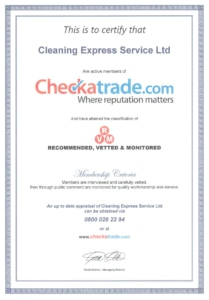 checkatrade cleaning express certificate