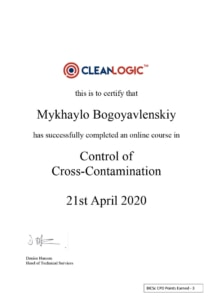 cross contamination certificate cleaning express
