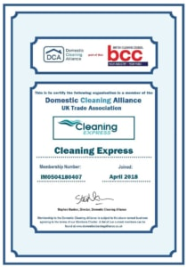 domestic cleaning alliance cleaning express certificate