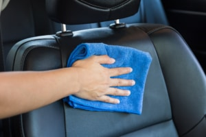 How to clean leather car seat